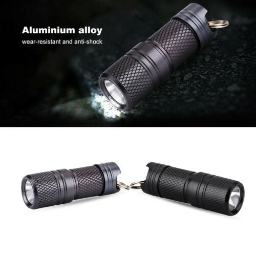 Rechargeable USB LED Flashlight Torch Light Lamp Pocket Keychain Keyring Gift