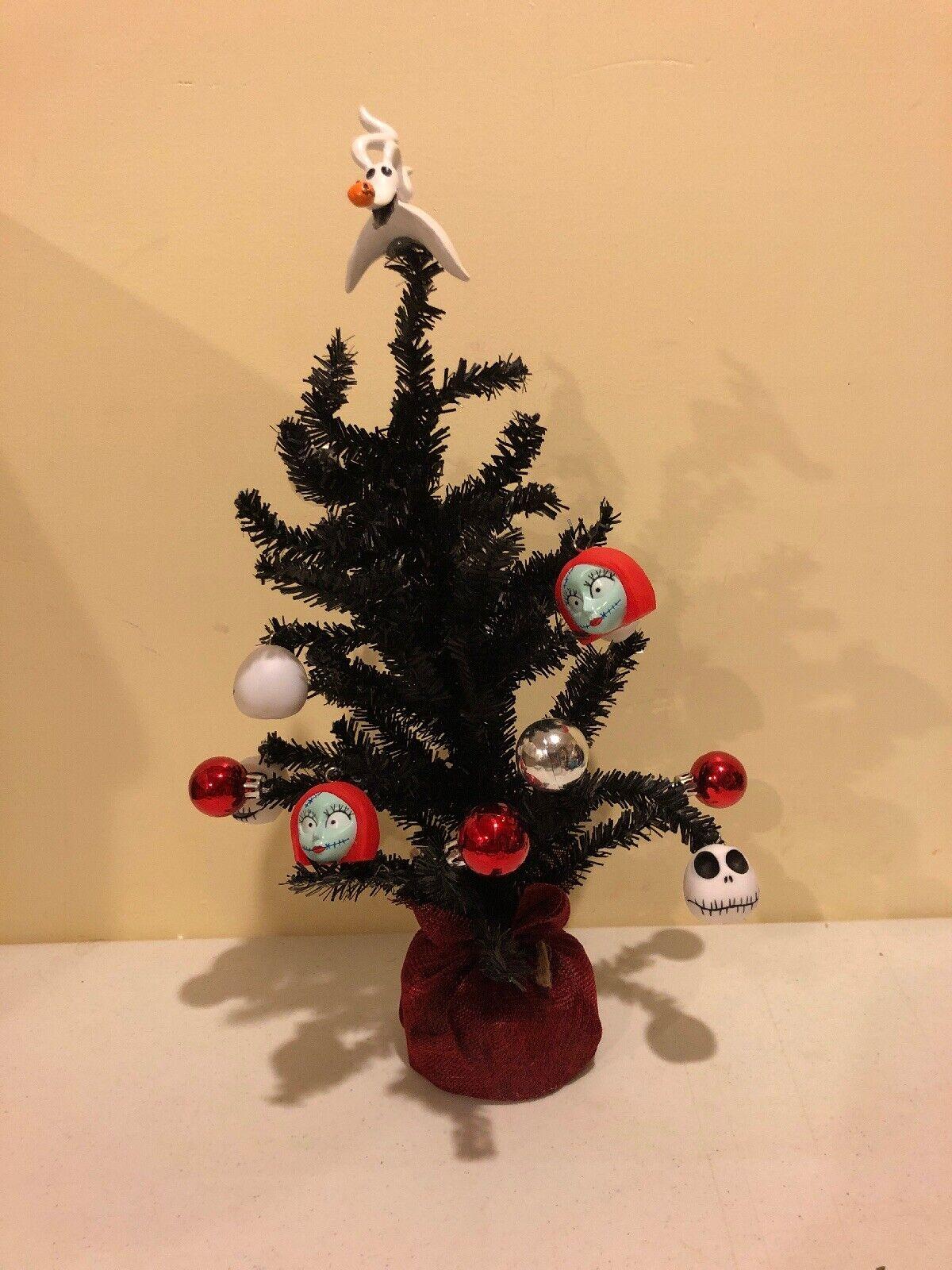 """The Nightmare Before Christmas Jack Skellington Decorated Christmas Tree 15"""" NIB"""