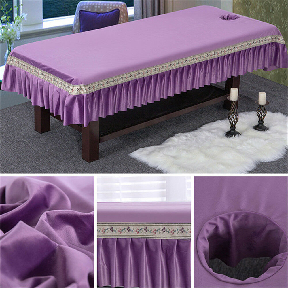 Top Quality Soft Massage Table Covers Bed Sheets Skirt Fitted Sheet Bedspread
