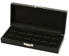 12 Ring Display Case Box Wide Slot Or Holds 6 Pairs Cuff Links Display Case Box