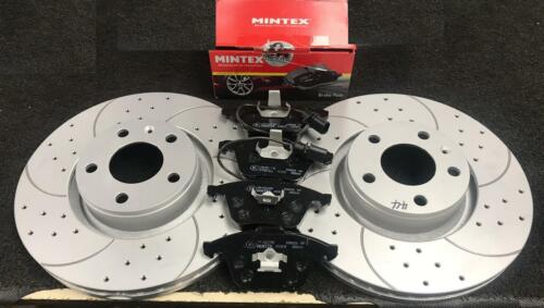 AUDI A6 A8 S8 C6 4F D3 QUATTRO AVANT DRILLED GROOVED FRONT BRAKE DISCS AND PADS