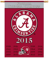University Of Alabama 2015 National Championship Two-sided Banner