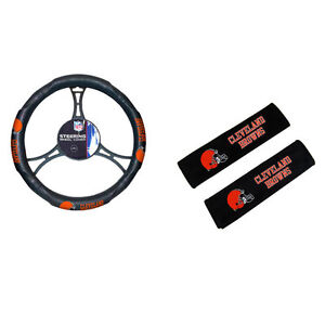 New Nfl Cleveland Browns Car Truck Steering Wheel Cover