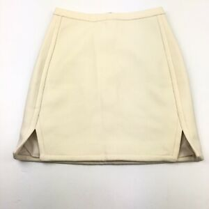 New-J-Crew-Double-Notch-Wool-PencilSkirt-Womens-00-Ivory-Career-Lined-Pencil-70