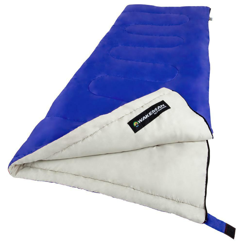 bluee 5 in. L 2-Season Sleeping Bag with Cotton Lining and Polyester Shell