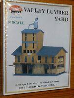 Model Power N 1565 Building Kit -- Lumber Yard Building