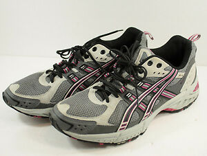 Details zu ASICS Gel Enduro 5 Running Shoes Womens Sz 8 Gray Pink Trainers Athletic T9C9N