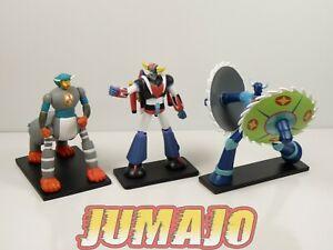 GOL5-LOT-3-figurines-resine-GO-NAGAI-HACHETTES-9-a-14-cm-GOLDORAK-combattants