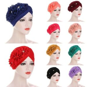 Damen Turban Cap Mütze Hijab Muslim Chemo Kappe Stirnband Kopfbedeckung Kopftuch