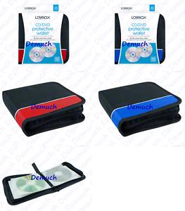 48-CD-DVD-STORAGE-WALLET-Car-Disc-Holder-Carry-Case-Pocket-Protector-Sleeve-UK