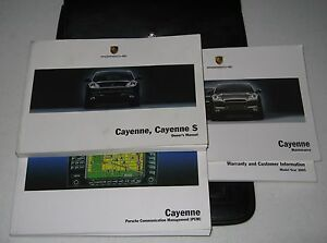 porsche cayenne 2005 owners manual