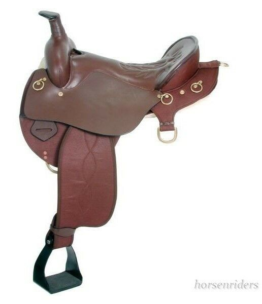 16.5 Inch Synthetic Neutron Endurance Saddle - Brown - Wide  Tree  famous brand