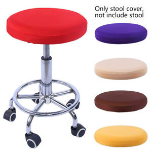 Bar Stool Slipcover Round Chair Protective Cloth Elastic