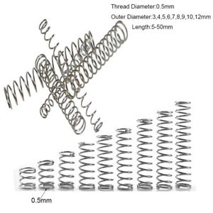 0.5mm Wire Diameter Compression Spring 304 Stainless Steel Pressure Small Spring