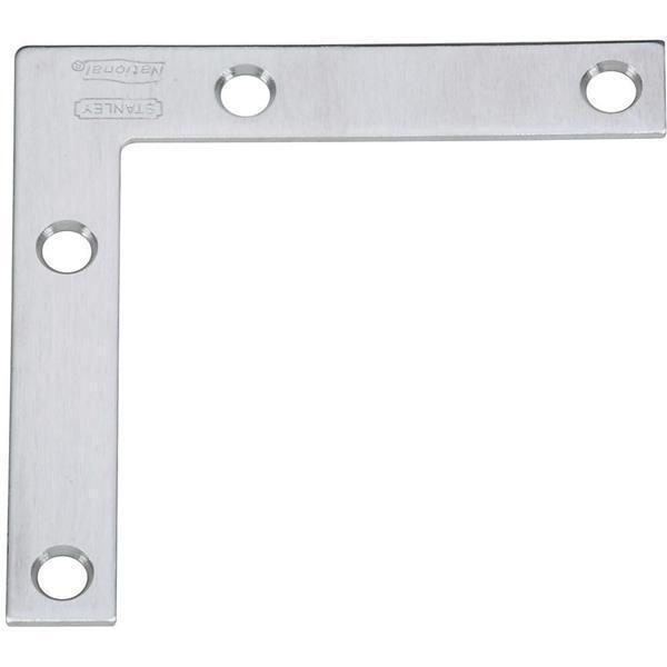 15 Pk Stainless Steel 1 2  W X 3  L Flat Screen Chest Corner Brace 2 Pk N348-334