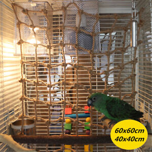 Pet-Parrot-Bird-Climbing-Net-Cage-Toy-Swing-Ladder-Macaw-Play-Hanging-Rope-Hook