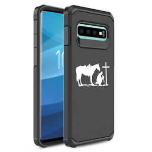 For-Samsung-Galaxy-Shockproof-Protective-Case-Cover-Cowboy-Praying-Cross-Horse