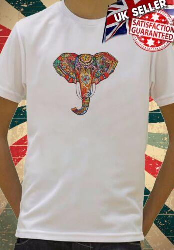 Elephant Ethnic Pattern Colourful Art Kids Boys Girls Unisex Gift T-Shirt 548