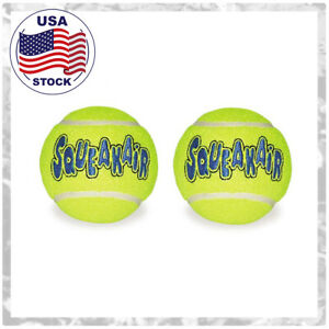 Kong-AirDog-Dog-Toy-Tennis-Balls-2pack-Size-LARGE-Fetch-and-Squeaks