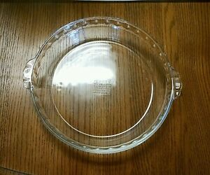 Image is loading VINTAGE-PYREX-229-CLEAR-DEEP-DISH-PIE-PLATE- & VINTAGE PYREX 229 CLEAR DEEP DISH PIE PLATE 9.5\