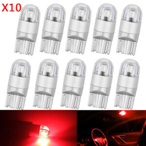 T10 2SMD 3030 W5W 194 168 LED Reading License Plate Light Side Lamp DRL Amber
