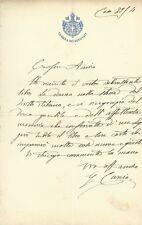 Lettera Autografo Onorevole Giorgio Curcio Opera Donna Storia Diritto Roma 1889