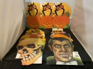 VINTAGE-EUREKA-LOT-OF-7-HALLOWEEN-DIE-CUT-CARDBOARD-DECORATION-LOT-6