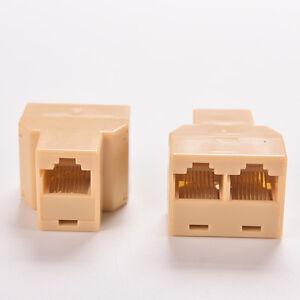 rj45 cat5 6 ethernet kabel lan anschluss 1 bis 2 buchse stecker adapter pc ebay. Black Bedroom Furniture Sets. Home Design Ideas