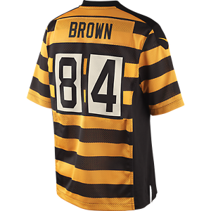 super popular f3ad5 40ce2 Details about [SIZE LARGE] ANTONIO BROWN BUMBLE BEE ALTERNATE JERSEY -  PITTSBURGH STEELERS