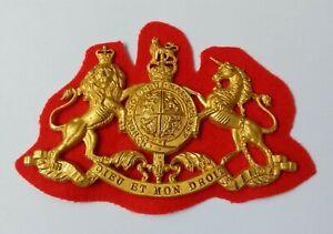 Genuine British Military Large Coat of Arms General Service H Cav Badge GIM32