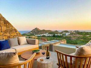 Residencia de lujo, vista panorámica, casa club con áreas comunes