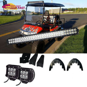 Admirable Golf Cart Led Light Bar 30 2 X Pods Wiring Kit For Ezgo Club Car Wiring Cloud Hisonuggs Outletorg