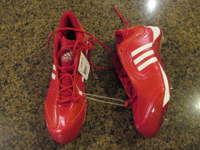 red baseball cleats