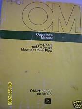 Original John Deere Operators Manual 1600m Chisel Plow