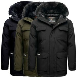 Geographical-Norway-Uomo-Giacca-Invernale-Cappotto-Parka-Invernale-Outdoor-trapuntata