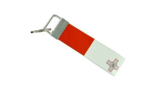 Keychain stripe key lanyard flag keyring ring car jdm band remote malta