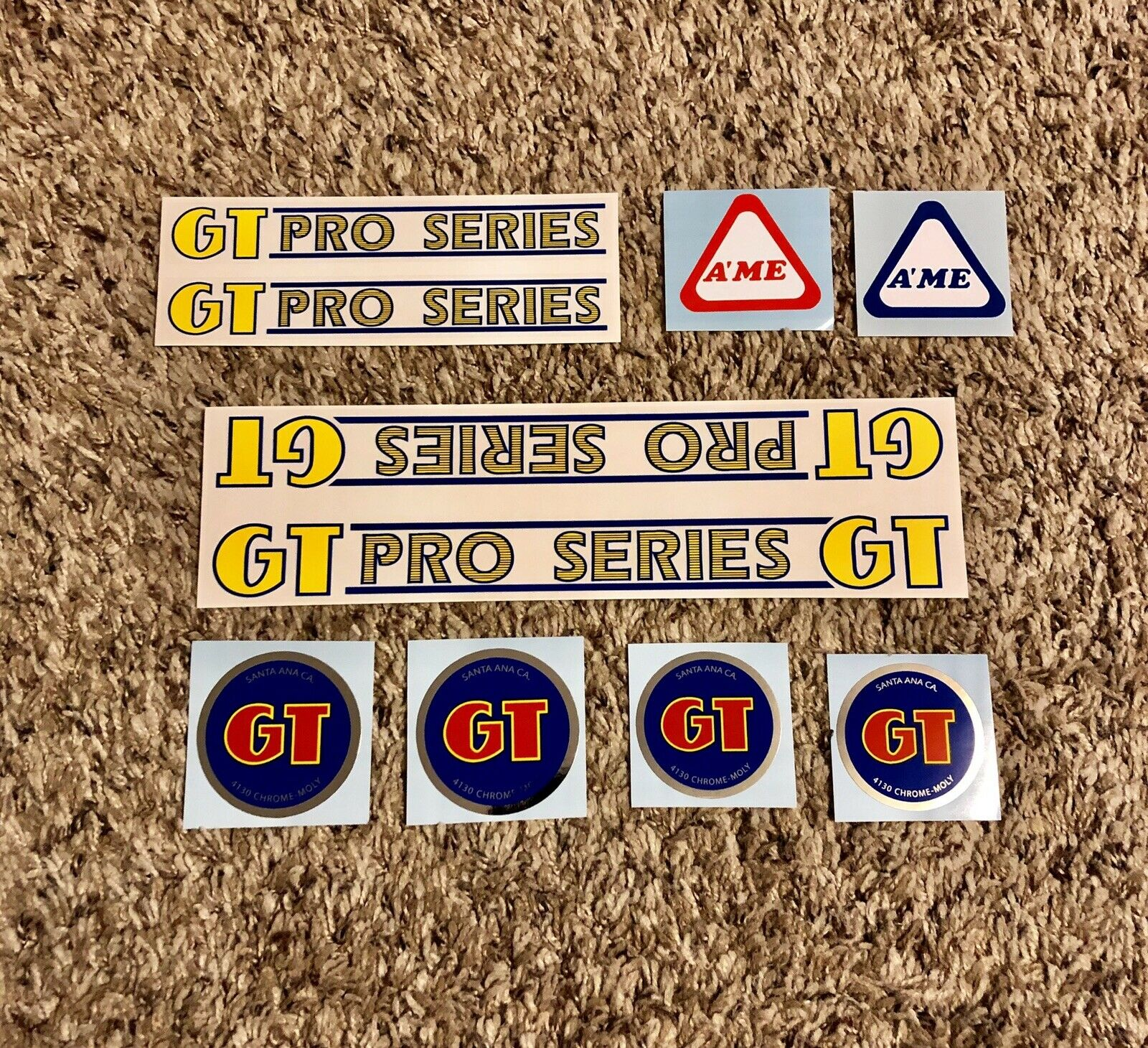 Old School BMX Ultrahive Licensed GT Pro Series Racing Decal Set Mach One