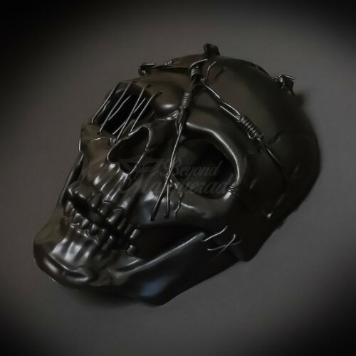 Steampunk Masquerade Mask Full Face Skull Party Costume Halloween Black M39506