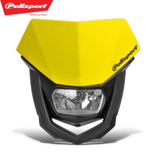 PoliSport Headlight Halo Halogen Dirtbike MX Moto DOT CE ECE Gas Gas