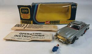 James-Bond-1966-Aston-Martin-DB5-Corgi-die-Cast-Model-270-Boxed