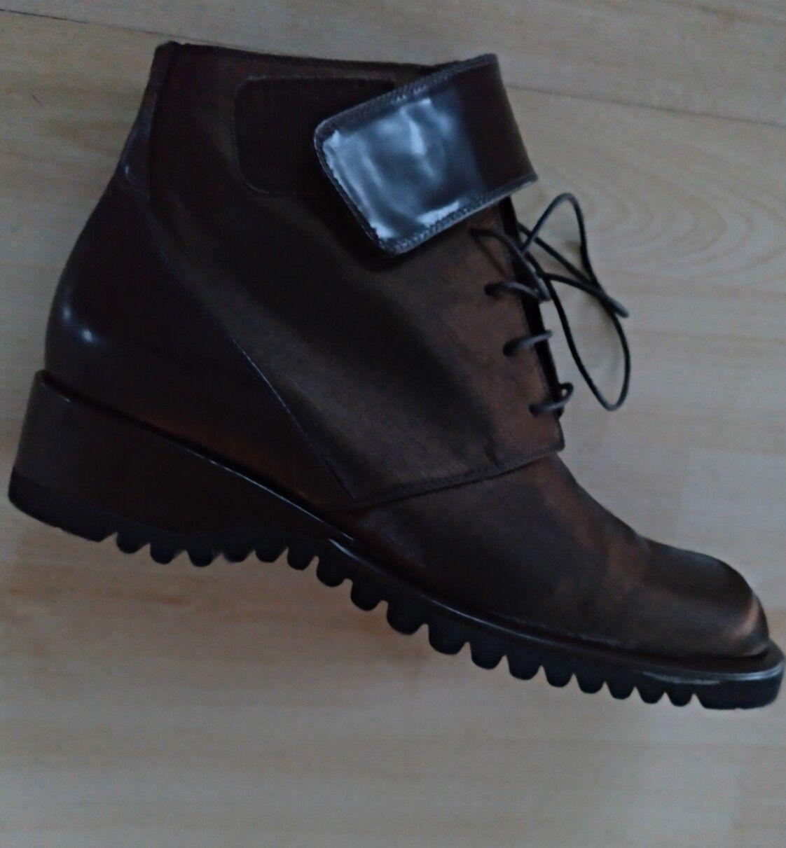 Stiefel, Stiefel, Stiefel, Stiefeletten, Leder braun, Gr. 38 aus Italien, stylisch 21fefc