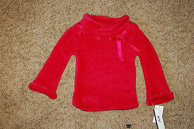 Sweaters Girls' Clothing (newborn-5t) Discreet New Wt Girl's Bcx Girl Red Chenille Mock Turtle Neck Long Sleeve Sweater Size 2 Relieving Heat And Sunstroke