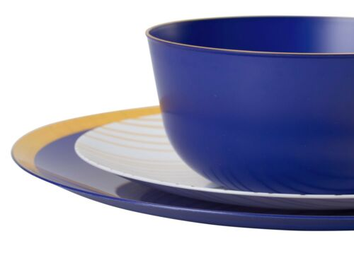 TRENDABLES Glam Premium Wedding Party Disposable Plastic Dinnerware-FREE SHIP!!