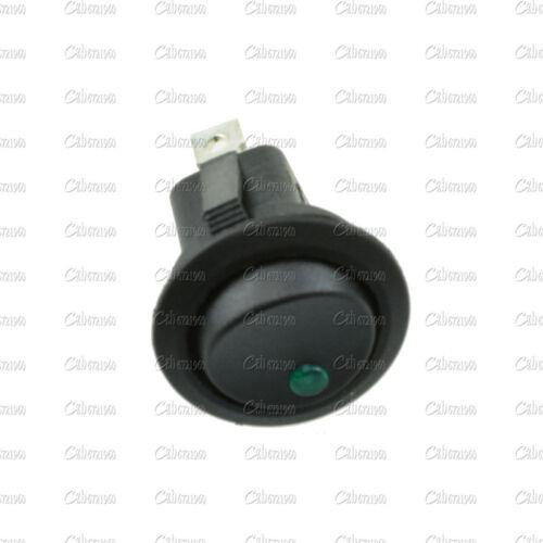 Verde 5Pcs 12V LED Luz De Punto Auto coche barco Rocker Redondo ON-OFF Interruptor de palanca