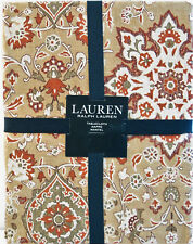 Ralph Lauren Tablecloth Chambers Tan Rust Olive 60 X 104   NEW