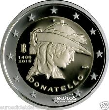 Moneta 2 euro commemorativa ITALIA 2016 - Donatello - UNC