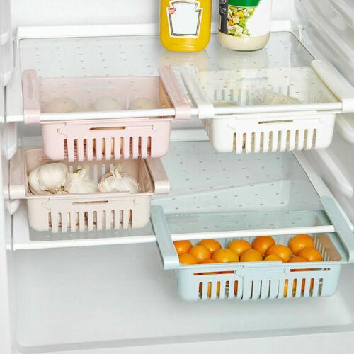 Pull-out Refrigerator Storage Box Holder Food Organizer Drawer Shelf Proper