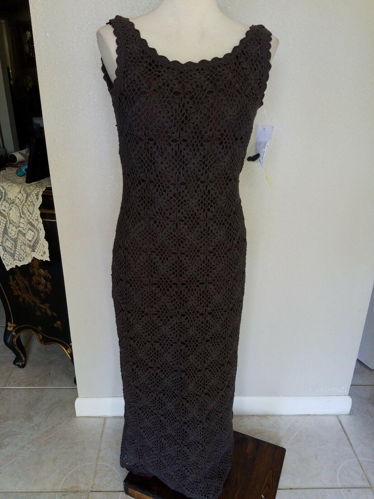 Marie St. Clair Long Crotched Mahogany Dress Größe 6