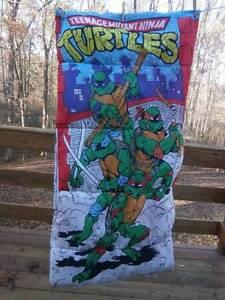 Image Is Loading Vtg Tmnt Sleeping Bag Age Mutant Ninja Turtles