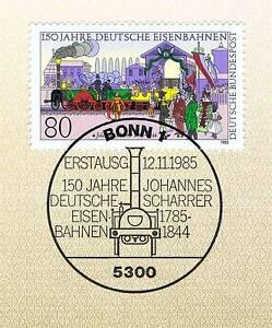 Sur De Soi Rfa 1985: Deutsche Chemins De Fer 150 Ans! Nº 1264 Avec Bonner Cachet Spécial! 156-afficher Le Titre D'origine